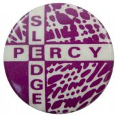 Percy Sledge - 'Purple Name' Button Badge